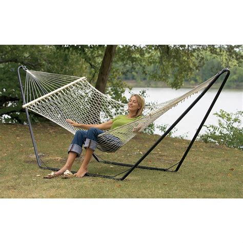 Hammock And Stand Combo sea coast hammock and stand combo 128416 patio furniture at sportsman s guide