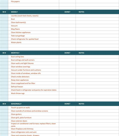 maid checklist template house cleaning checklist template for list templates