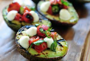 grilled avocados with blistered tomato salsa