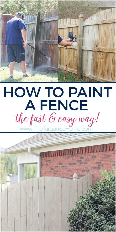 how to paint how to paint a wood fence the fast and easy way