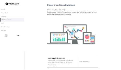 Free Website Support And Maintenance Proposal Template Better Proposals Website Maintenance Template