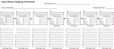value mapping template vsm template for microsoft excel