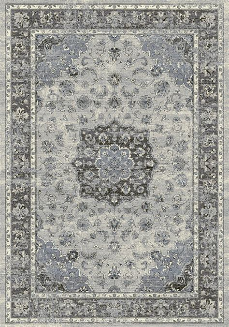 silver grey rug ancient garden 57559 9656 silver grey area rug by dynamic rugs