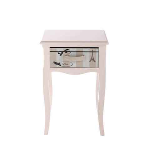 table chevet fille table de chevet enfant avec tiroir en bois l 42 cm