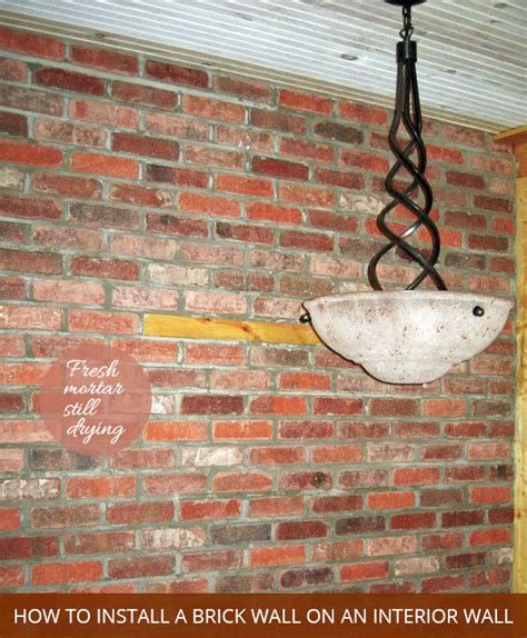 how to hang a picture on a brick wall how to install a brick wall in the interior of your home