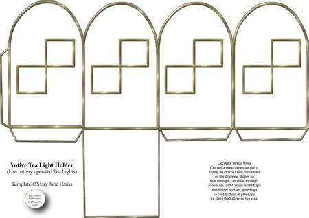 votive card template votive tea light holder 2 cup326602 99 craftsuprint