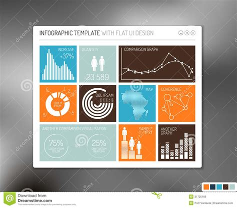 vector flat user interface infographic royalty free stock