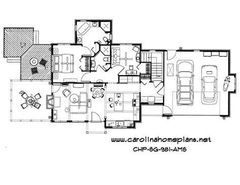 craftsman open floor plans small craftsman style open floor plan number sg 981 ams