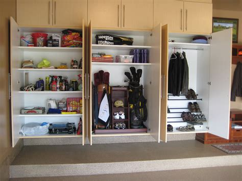 custom wood wall mounted garage storage cabinets with