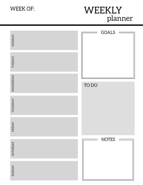 free printable organizer free printable weekly planner pages paper trail design