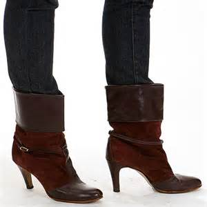 wine colored ankle boots vintage maroon wine colored cuffed buckle by