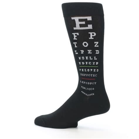 Wedding Bell Socks by Black White Doctor Eye Chart S Dress Socks K Bell Socks