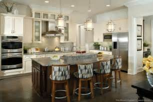 Pendant Lights Above Island When Hanging Pendant Lights A Kitchen Island Like These Progresslighting Quot Bay Court Quot One