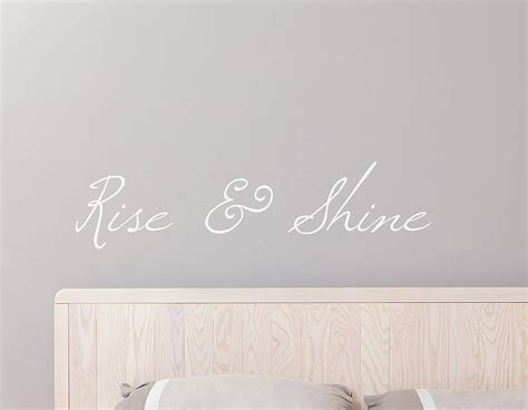 rise and shine kitchen pink rise and shine wall sticker contemporary wall stickers