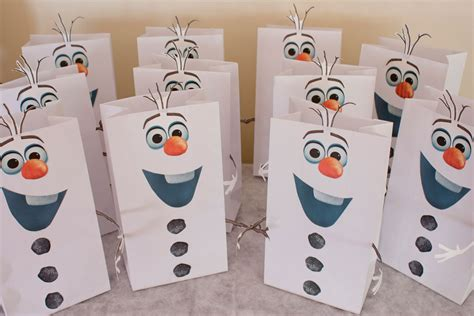 How To Make Goody Bags Out Of Paper - olaf printable use sided to attach the
