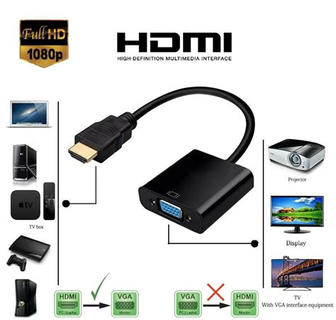 hdmi cable to connect apple laptop to tv input hd 1080p hdmi to output vga cable adapter converter