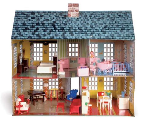 pin toys dolls house tin doll metals dollhouses old schools 1950s toys dollhouses toys friends