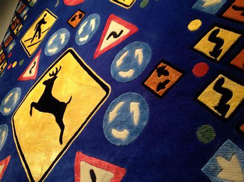 designboom lance wyman roadsigns rug by lance wyman for odabashian