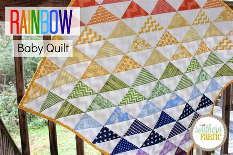 Best Fabric For Quilting by Rainbow Baby Quilt Top Tutorial For Beginners Southern