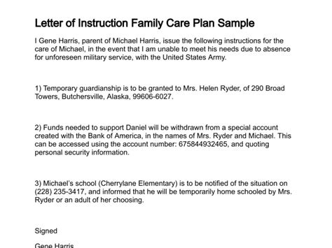 Financial Hardship Letter For Utilities Family Care Plan Discharge