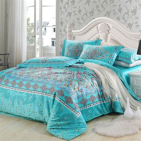 turquoise bedding sets queen turquoise and red southwestern style unique floral pattern
