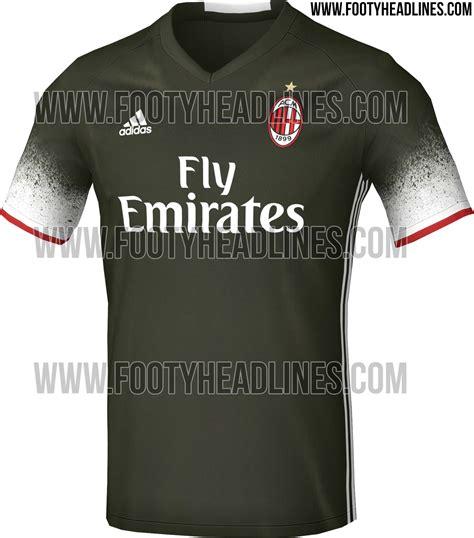Sweater Ac Milan 2016 2017 Leaked Adidas Green milan 16 17 third kit leaked footy headlines
