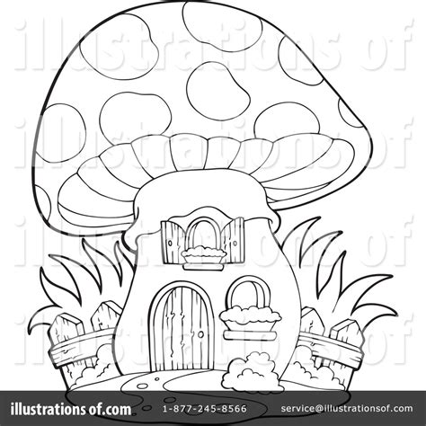 mushroom house coloring pages fairy house clipart black and white