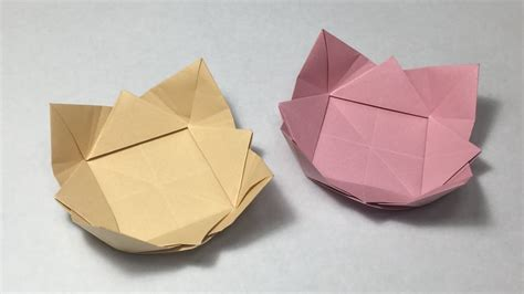 Paper Bowl Origami - how to make a paper bowl origami dish
