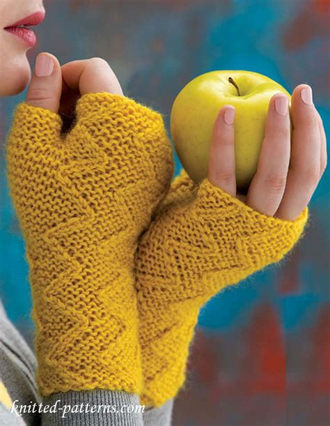 knitting pattern for childrens gloves with fingers zigzag mitts knitting pattern free