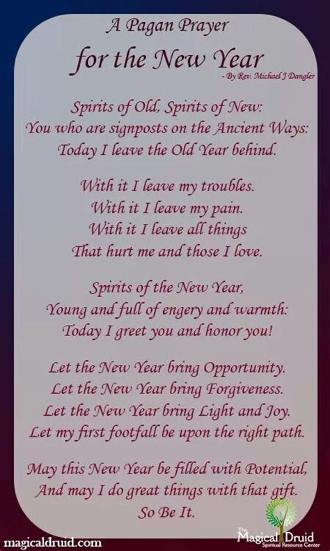 best prayers for welcoming the new year new year s pagan prayer welcoming the new saying goodbye to the crafting by