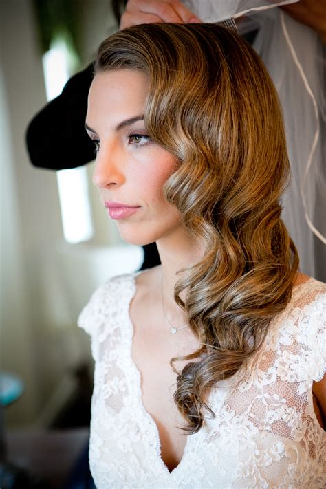 Vintage Wedding Hair West by The Hair The Opted For Retro Style Waves For