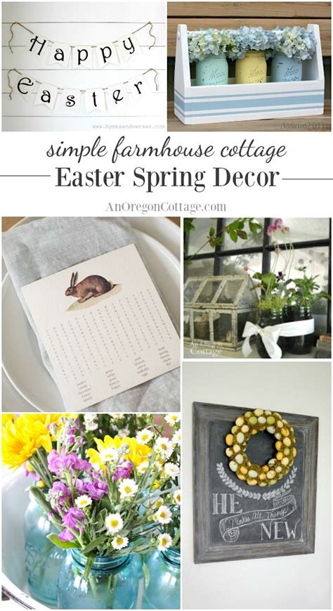 spring decorating ideas 2017 21 simple farmhouse cottage easter spring decor ideas