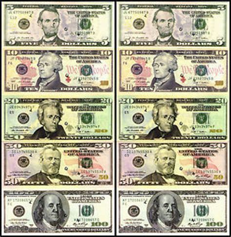 printable mini fake money real money ebay