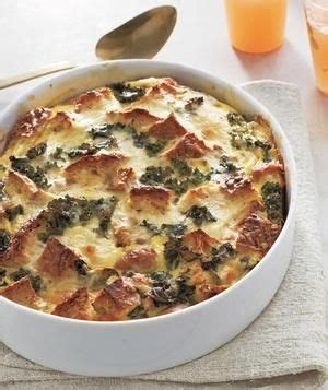egg strata casserole strata recipes kale and sausages on pinterest