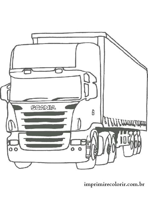 Logo Aufkleber Für Auto by Caminh 227 O Scania Desenho 2 Malen