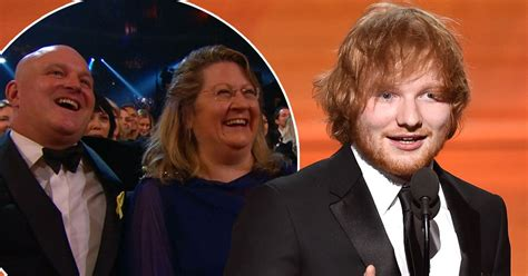 ed sheeran family ed sheeran s parents wrongly identified on tv as he thanks