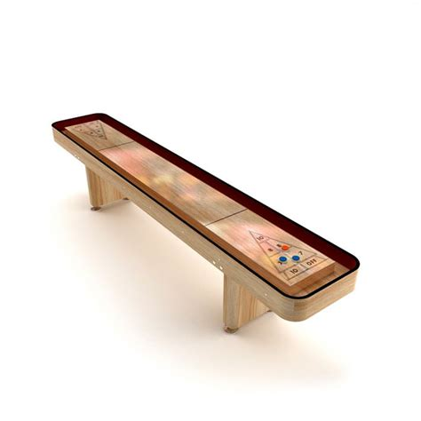 indoor shuffleboard table 3d model cgtrader