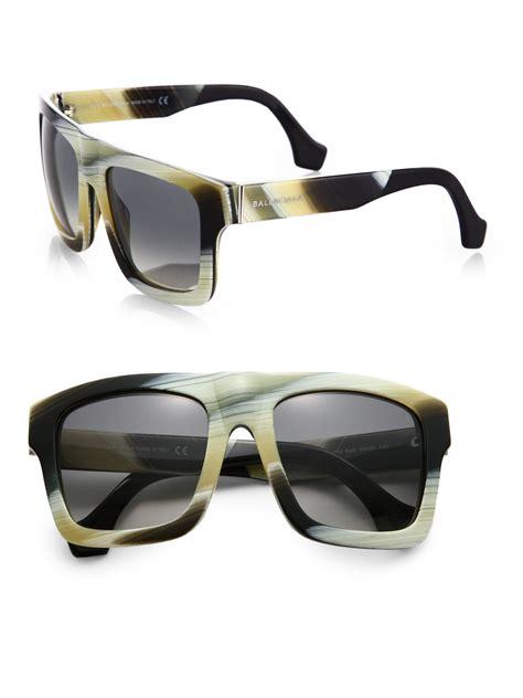 balenciaga retro square sunglasses in multicolor black white lyst