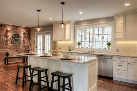 kitchen open white kitchen center island corner shaker painted cabinets kitchen design gallery