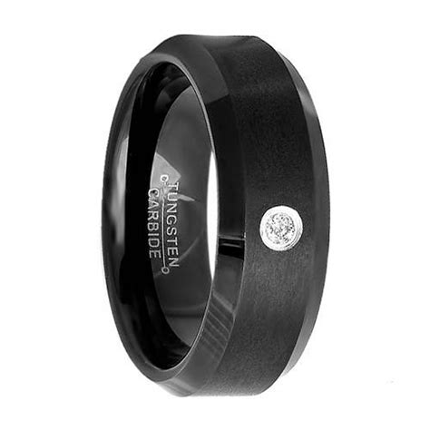 Black Wedding Bands by Black Engagement Rings