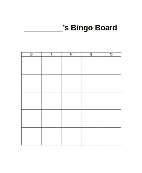 bingo cards template excel word bingo template 5 free word documents