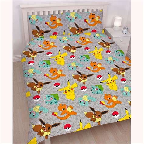 pokemon bedding pokemon double duvet cover set new pikachu go bedding ebay