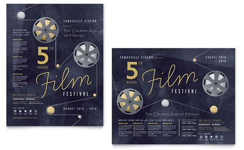 film festival poster template word publisher