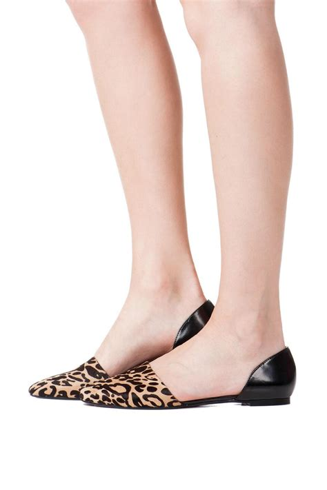Cutout Flats sophe cutout flat in leopard s