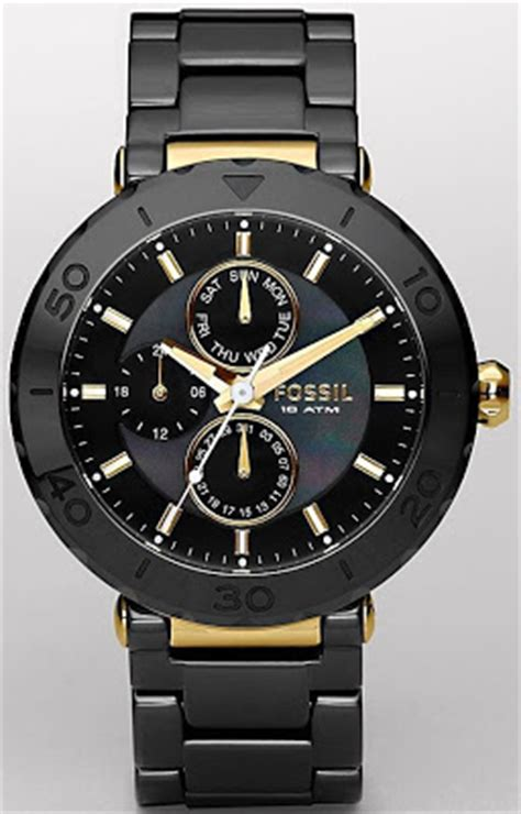 Fossil Bp Black my loss is your gain fossil ceramic black and gold ce1005