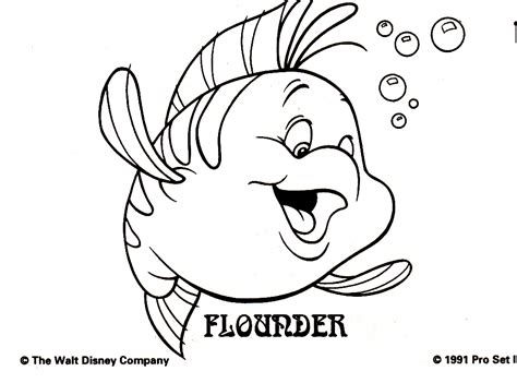 Flounder Coloring Pages Coloring Pages Flounder Coloring Pages From The Mermaid