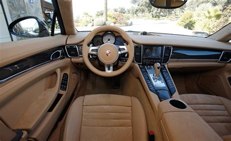 Porsche Panamera White Interior by Car And Driver
