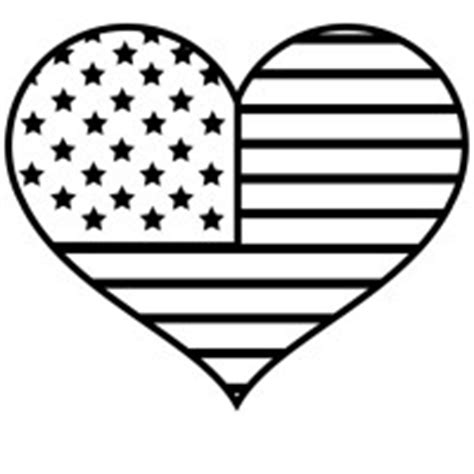 patriotic heart coloring page 4th of july independence day