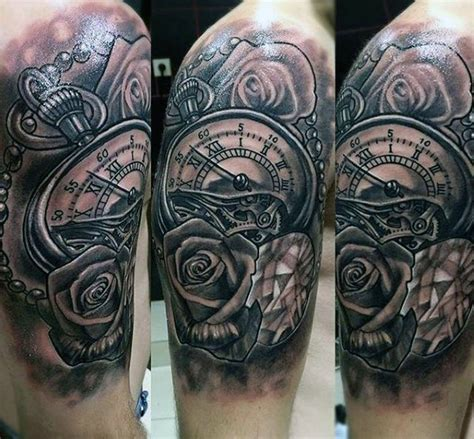 roman numeral tattoos for men 80 clock designs for timeless ink ideas