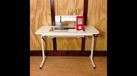 Affordable Sewing Table With Custom Cut Insert